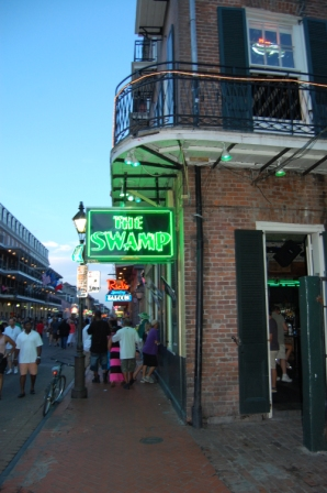 the bourbon swamp, 516 bourbon street, new orleans french quarter courtyard