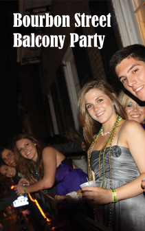 bourbon street balcony party
