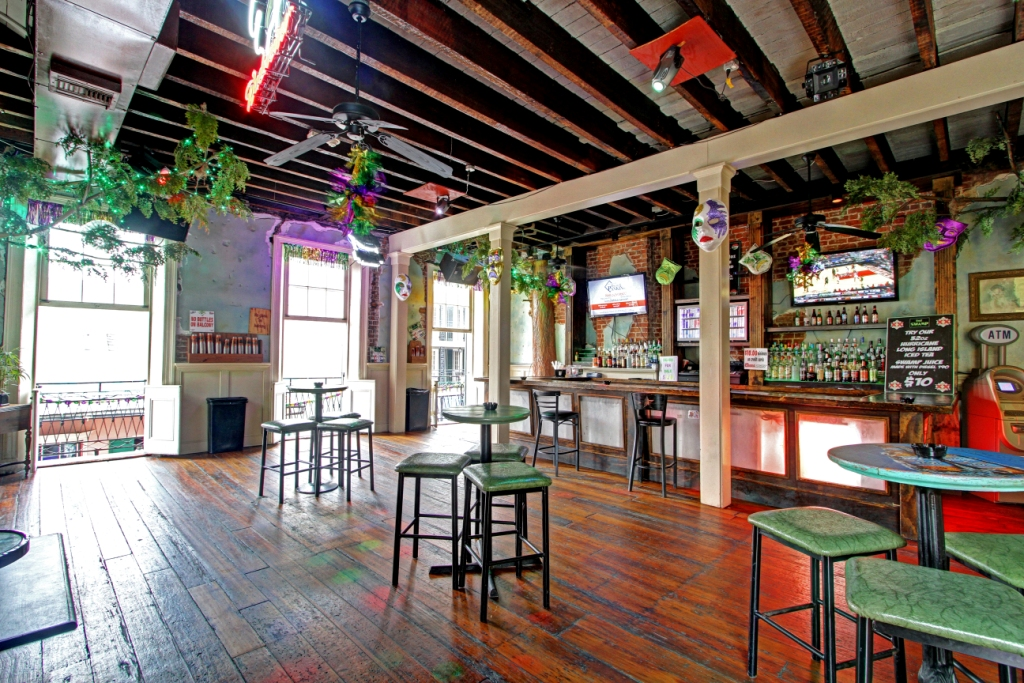The Swamp's upstairs Bourbon Street Balcony Bar
