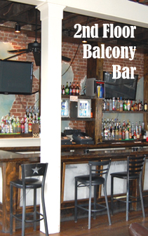2nd floor balcony bar
