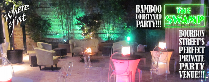Bamboo Courtyard Party at THE SWAMP